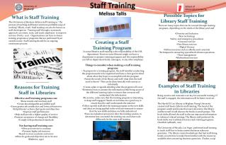 Staff Training  Melissa Tallis