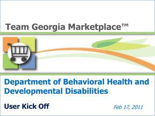 Department of Behavioral Health and Developmental Disabilities