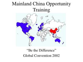 Mainland China Opportunity Training