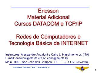 Instrutores: Alessandro Anzaloni e Cairo L. Nascimento Jr. (ITA)