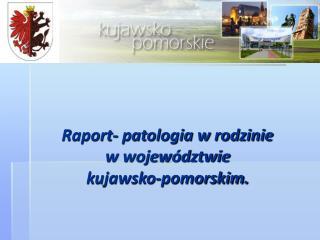 Raport- patologia w rodzinie  w wojew�dztwie kujawsko-pomorskim.