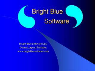 Bright Blue                 Software