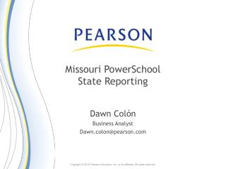 Missouri PowerSchool State Reporting