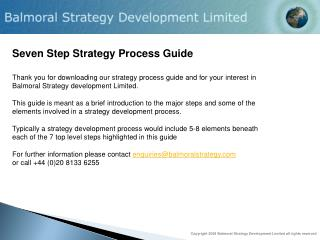 Seven Step Strategy Process Guide