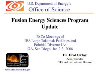 ExCo Meetings of  IEA Large Tokamak Facilities and  Poloidal Divertor IAs