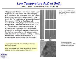 Low Temperature ALD of SnO 2