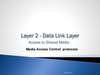 Layer 2 - Data Link Layer