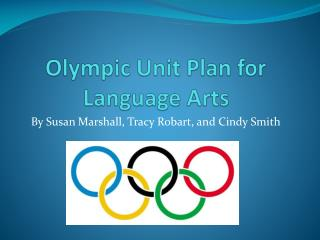 Olympic Unit Plan for Language Arts