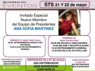 Invitado Especial Nuevo Miembro  del Equipo de Presidentes ANA SOFIA MARTINEZ