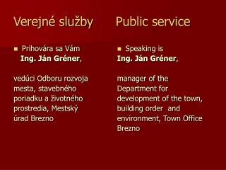 Verejné služby    Public service