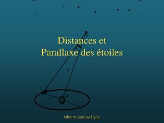 Distances et Parallaxe des étoiles