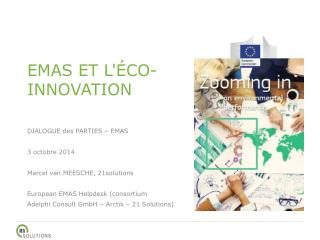 EMAS ET L'ÉCO-INNOVATION