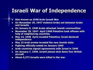 Israeli War of Independence