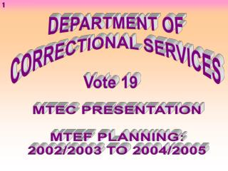 DEPARTMENT OF CORRECTIONAL SERVICES