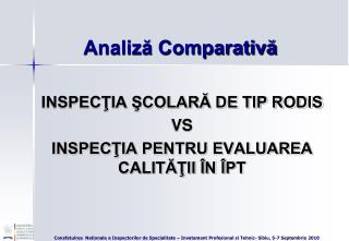 Analiză Comparativă