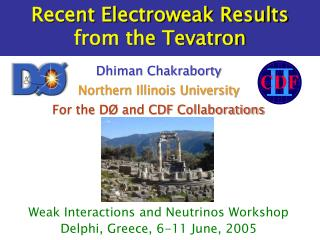 Recent Electroweak Results  from the Tevatron