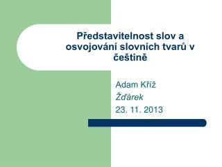Představitelnost slov a osvojování slovních tvarů v češtině