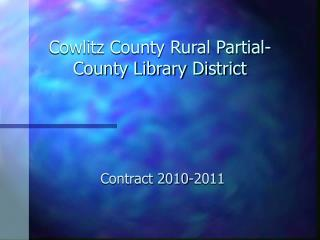 Cowlitz County Rural Partial-County Library District