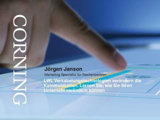 Jörgen Janson Marketing  Spezialist  für  Rechenzentren