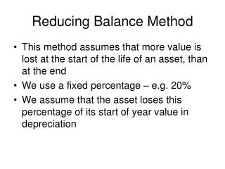Reducing Balance Method
