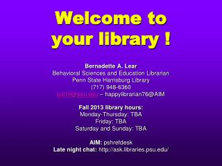 Welcome to  your library !