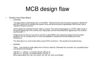 MCB design flaw