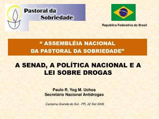 A SENAD, A POLÍTICA NACIONAL E A LEI SOBRE DROGAS