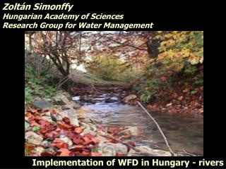 Implementation of WFD in Hungary - rivers