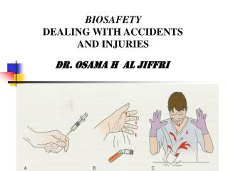 BIOSAFETY DEALING WITH ACCIDENTS  AND INJURIES Dr. Osama h  al jiffri