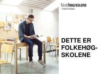 DETTE ER FOLKEHØG-SKOLENE