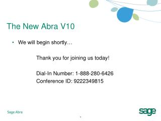 The New Abra V10