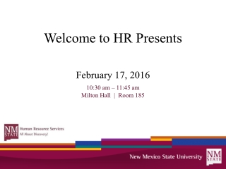 Welcome NMSU Employees  FMLA Workshop