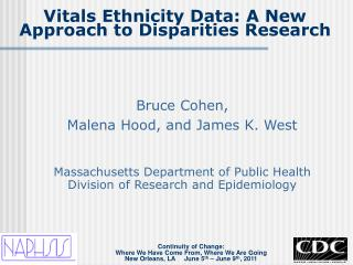Vitals Ethnicity Data: A New Approach to Disparities Research