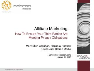 Affiliate Marketing: