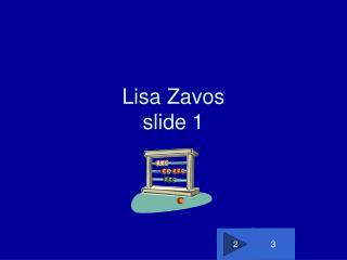 Lisa Zavos slide 1
