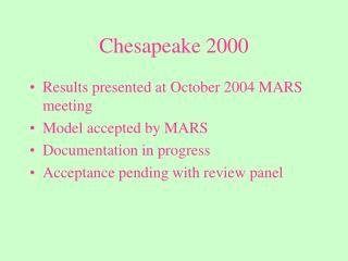Chesapeake 2000
