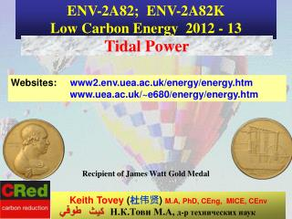 ENV-2A82;  ENV-2A82K  Low Carbon Energy  2012 - 13