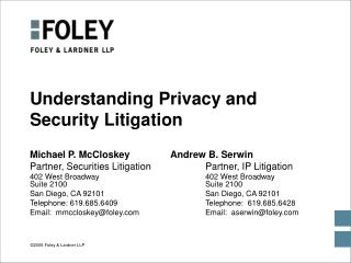 Understanding Privacy and Security Litigation