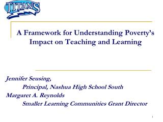 A Framework for Understanding Poverty�s Impact on Teaching and Learning