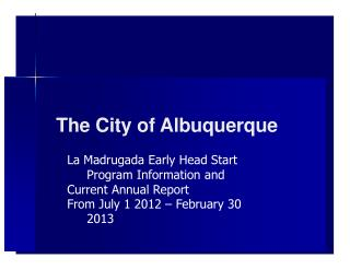 The  City of  Albuquerque