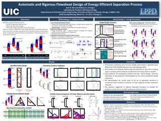 Automatic and Rigorous  Flowsheet  Design of Energy Efficient Separation Process