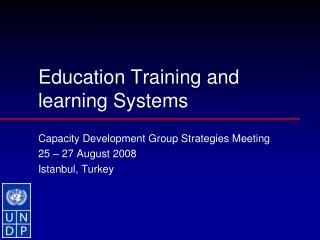 Education Training and learning Systems