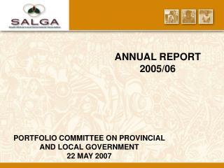 ANNUAL REPORT 2005/06