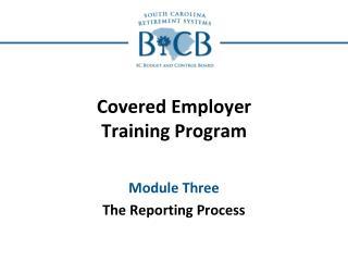 Covered Employer Training Program