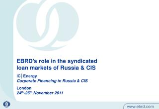 EBRD�s role