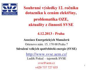 Asociace Energetických Manažerů Ortenovo nám. 15, 170 00 Praha 7
