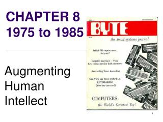 CHAPTER 8   1975 to 1985