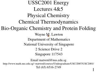 Wayne M. Lawton Department of Mathematics National University of Singapore 2 Science Drive 2