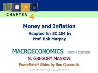 Money and Inflation Adapted for EC 204 by Prof. Bob Murphy