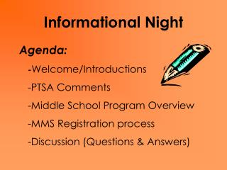 Informational Night